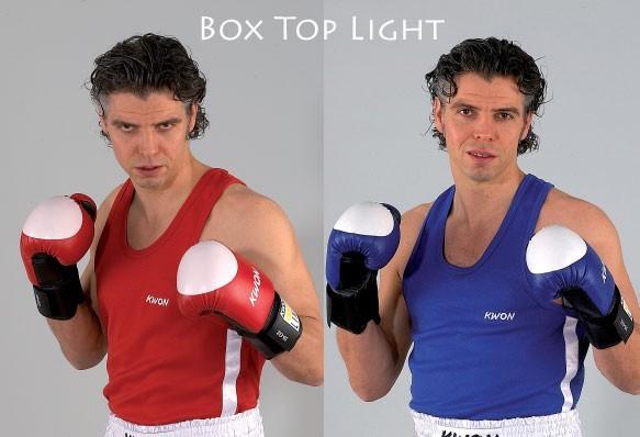 Boxing Top Light in blau und rot