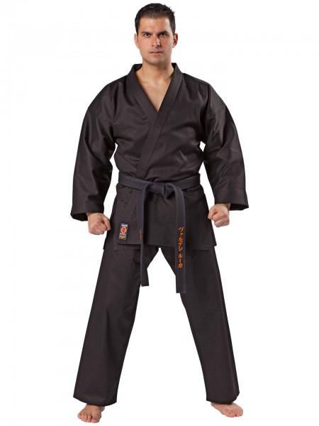 Karateanzug Traditional 8 oz. schwarz und weiß