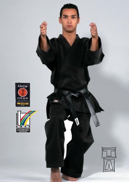 Karate Anzug Traditional schwarz, 12 oz by Kwon