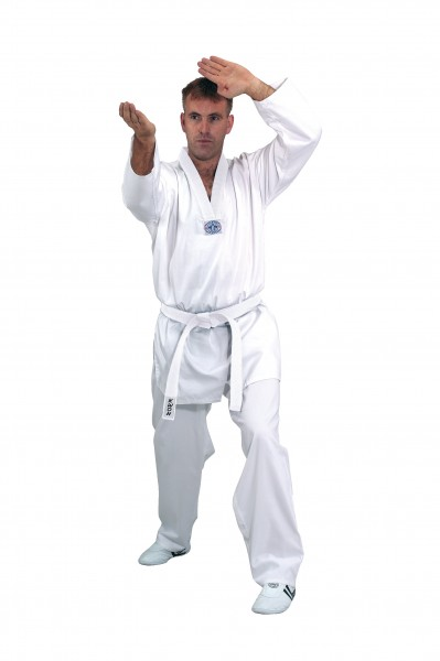 Taekwondo Anzug Hadan Plus, weißes Revers