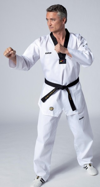Taekwondo Anzug Victory, schwarzes Revers