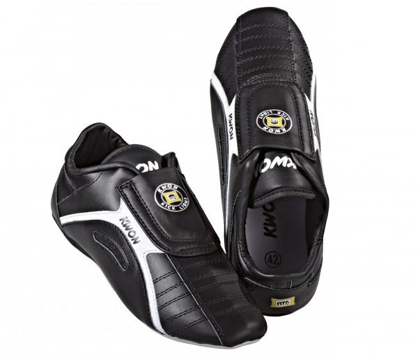 Schuhe Kick Light, Leder, schwarz by Kwon