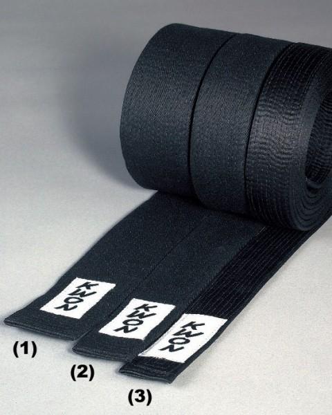 Schwarze Gürtel, 4cm, Kunstseide, (3) by Kwon