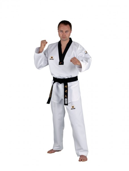 Taekwondo Anzug Competition Korea schwarzes Revers