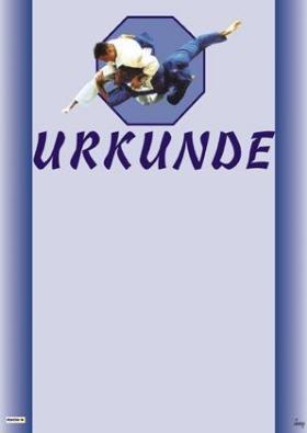 Urkunde - Judo blau by Kwon