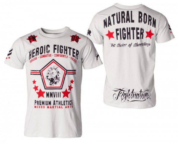"T-Shirt ""Heroic Fighter"" 2 Farben by Fightnature - XL / Sky"
