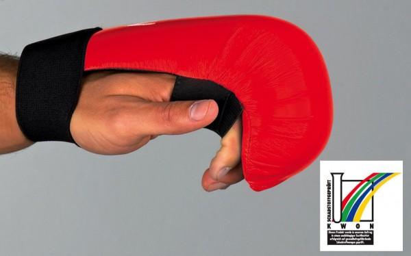 Karate Handschutz ohne Daumenschlaufe CE in 2 Farben by Kwon