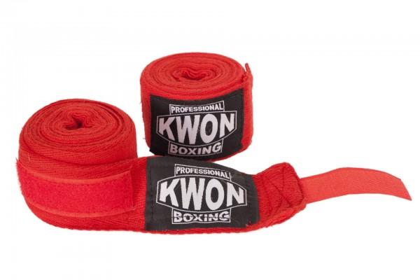 Boxbandagen unelastisch rot und weiß Professional by Kwon
