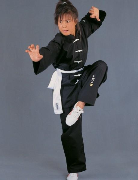 Kung Fu Anzug mit weißen Knöpfen