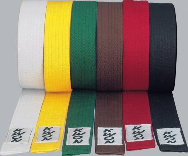 Wettkampfgürtel kurz alle Farben by Kwon