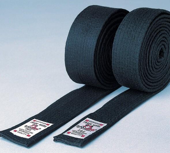 Budo-Gürtel, in 4 cm oder 5cm schwarz, aus Baumwolle