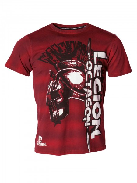 T-Shirt Fight or die, MMA, Legion Octagon by Kwon, rot und grau