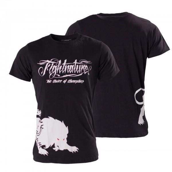 T-Shirt schwarz Fightnature by KWON