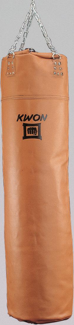 Boxsack 150 Leder ungefüllt in braun by Kwon | Boxsack