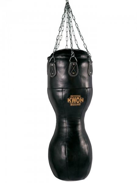 Boxsack Hook, Leder, 100 cm, gefüllt by Professional Boxing Kwon