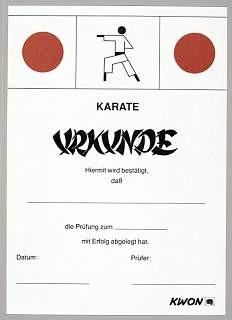 Prüfungs Urkunden Karate by Kwon