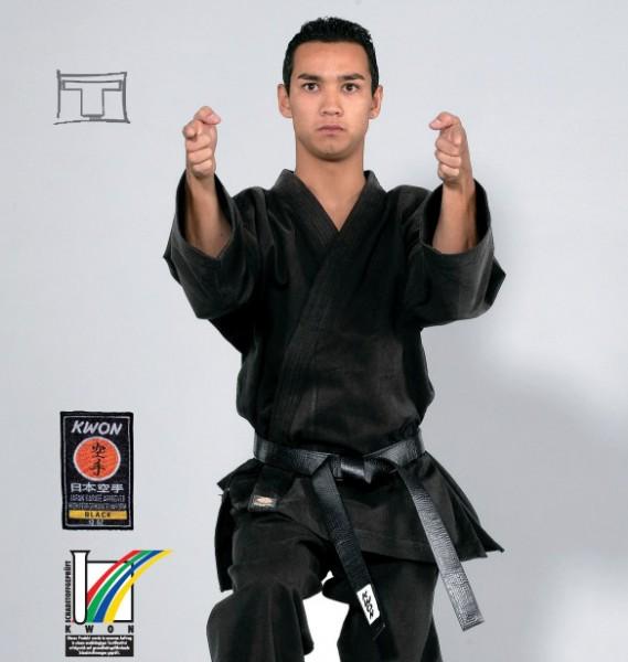 Karatejacke Traditional schwarz, 12 oz by Kwon