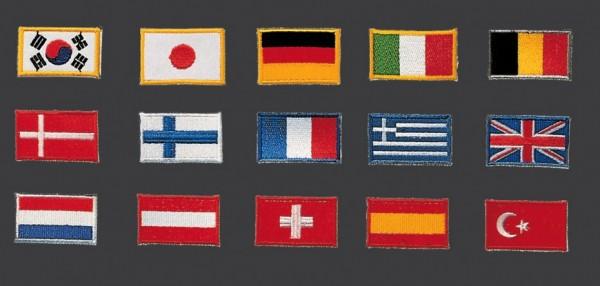 Stickabzeichen Länderflaggen