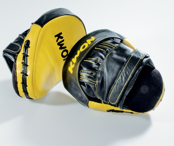 Handpratzen, Coaching Mitts, Leder by Kwon