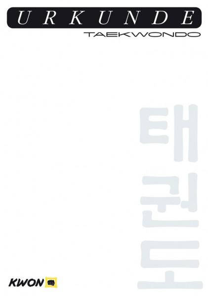 Urkunde TKD neu by Kwon