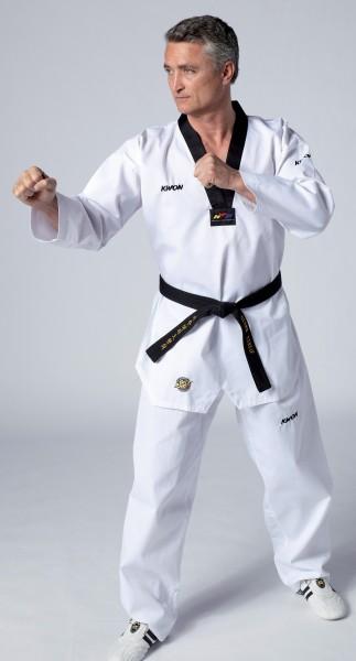 Taekwondo Anzug Victory, schwarzes Revers, WT rec. by Kwon