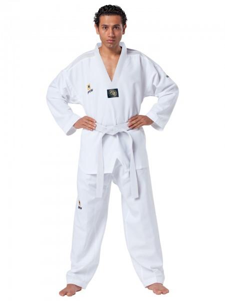 Taekwondo Anzug Fightlite, weißes Revers by Kwon