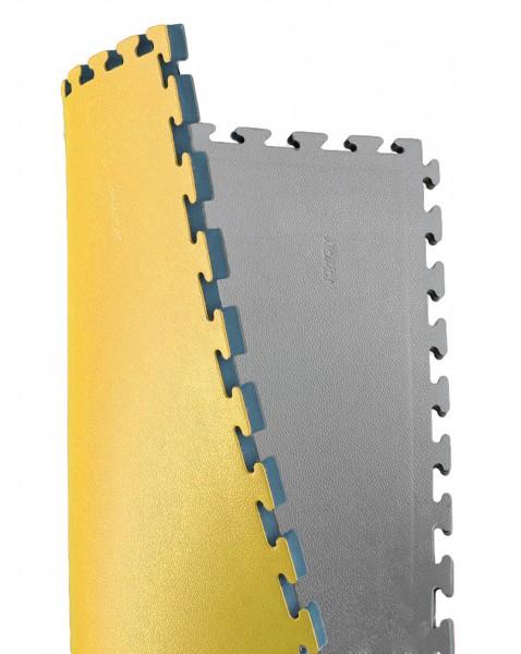 Sportmatte / Steckmatte 2,5 cm, anthrazit/gelb by Kwon