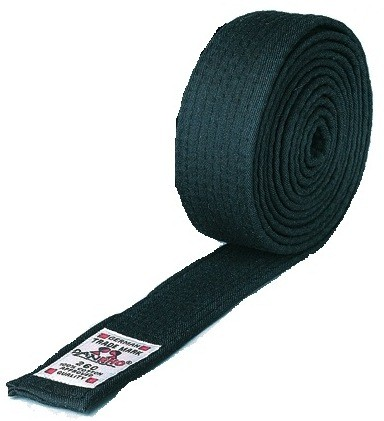 Kampfsport Gürtel schwarz, 180 cm