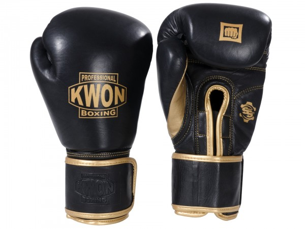 Boxhandschuhe Sparring mit Klett, Leder, 12 oz und 14 oz by Professional Boxing Kwon