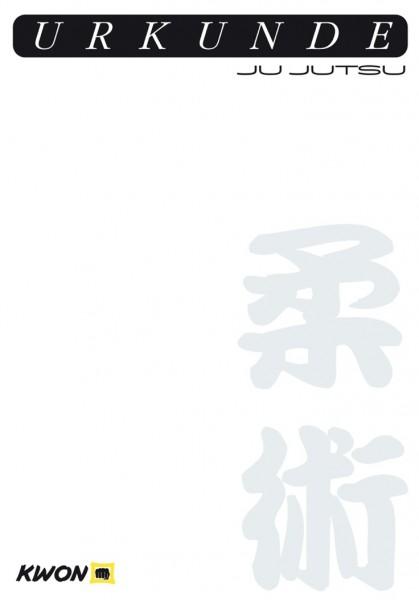 Urkunde Ju Jutsu neu by Kwon