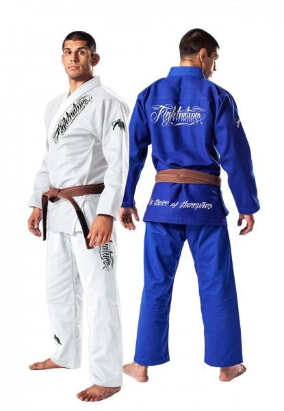 BJJ Anzug Fightnature blau und weiß