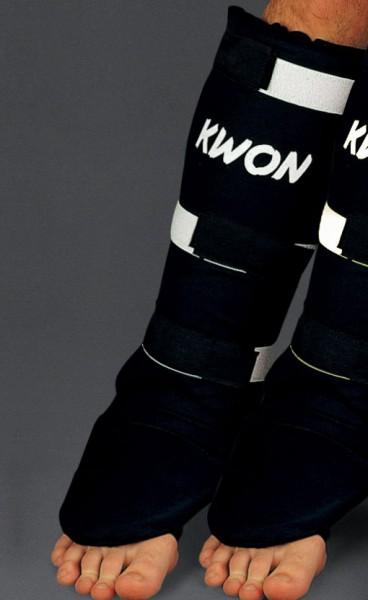 Schienbeinschützer mit Spannschutz Muay Thai Plus CE by Kwon