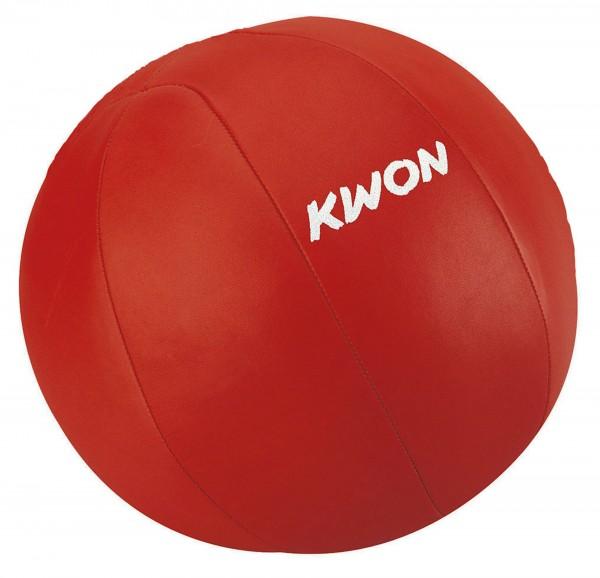 Medizinball, 5 kg, Leder, rot by Kwon