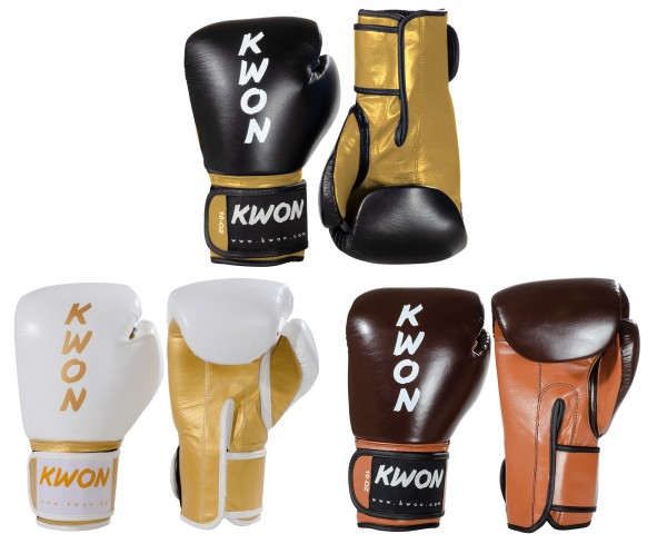 Boxhandschuhe KO Champ, Leder, 10 oder 12 oz by KWON