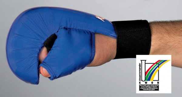 Karate Handschutz mit Daumenschlaufe CE in 2 Farben by Kwon