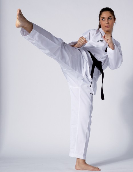 Taekwondo Anzug Victory, weiß mit weißem Revers by Kwon