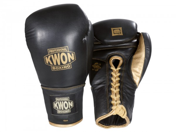 Boxhandschuhe Sparring mit Schnürung, Leder, 16 oz und 18 oz by Professional Boxing Kwon