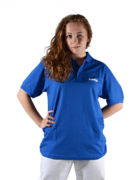 Polo Shirt, blau mit Druck BTU by Kwon