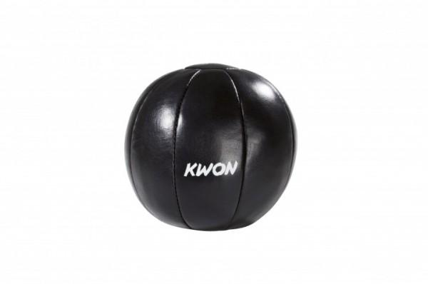Medizinball 3kg, Leder, schwarz by Kwon