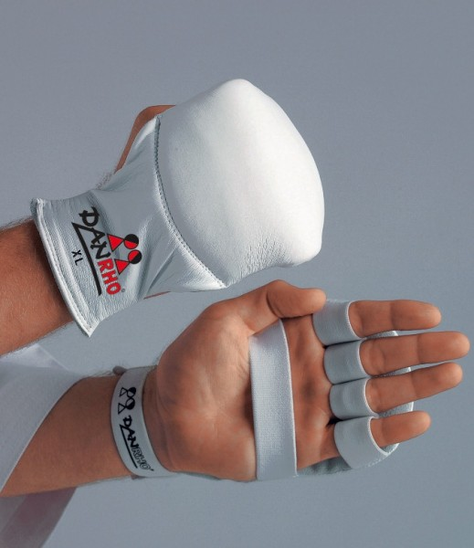 Handschutz Spezial in weiß, rot und blau