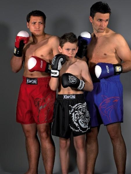Thaibox Shorts in schwarz mit Tigerdruck