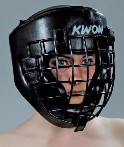 Kopfschutz Leder mit Eisengitter by Kwon
